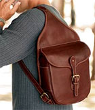 The Levenger Saddlebag Sling Shoulder Bag
