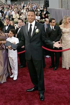 Terrence Howard and Man Purse on Oscar Night