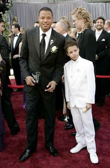 Terrence Howard and Man Purse at the Academy Awards