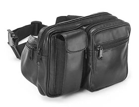 Wilsons Leather Dual Pocket Beltbag