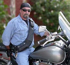 The CueroMoto Biker Bandolier
