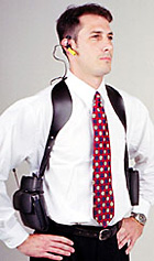 e-Holster Leather Shoulder Harness Case System