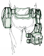 Police Duty Belt and Leg Rig Illustration from Make magazine