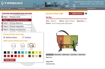 Timbuk2 Custom Messenger Bag Builder