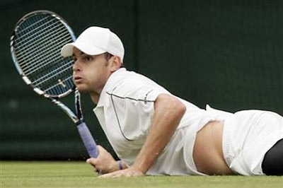 Andy Roddick on the Wimbledon Grass