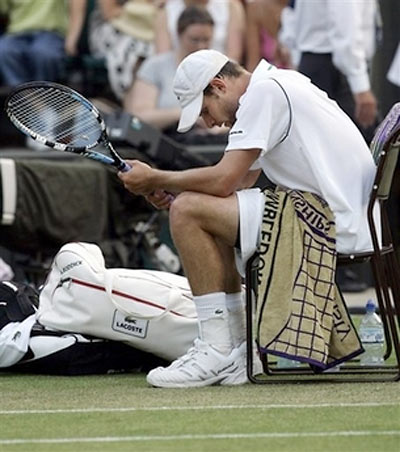 Andy Roddick and his Lacoste Satchel